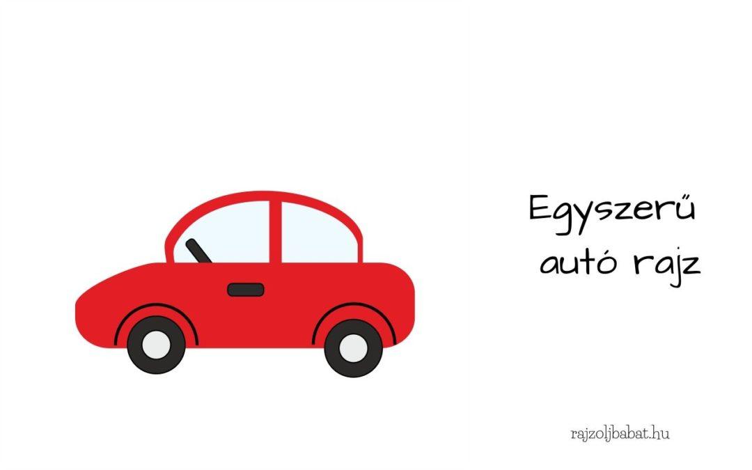 Egyszerű autó rajz
