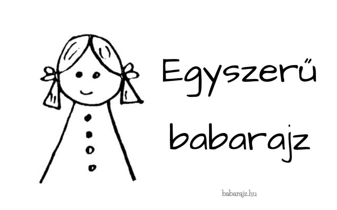 Egyszerű babarajz, egyszerű baba rajzolás