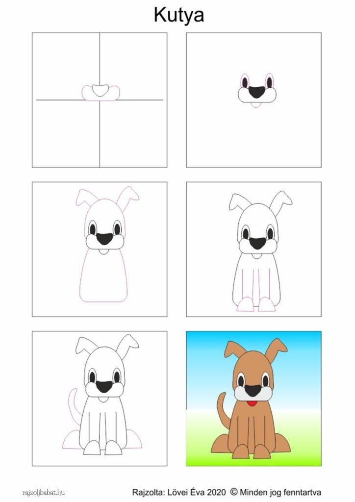 Egyszerű kutya rajz lépésről lépésre