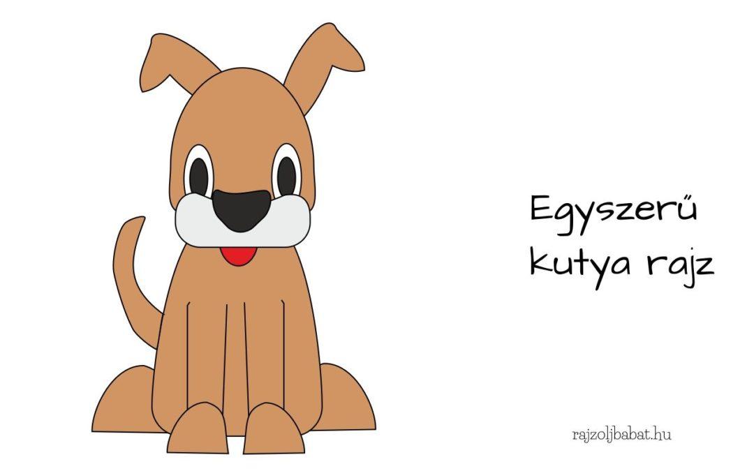 egyszerű kutya rajz