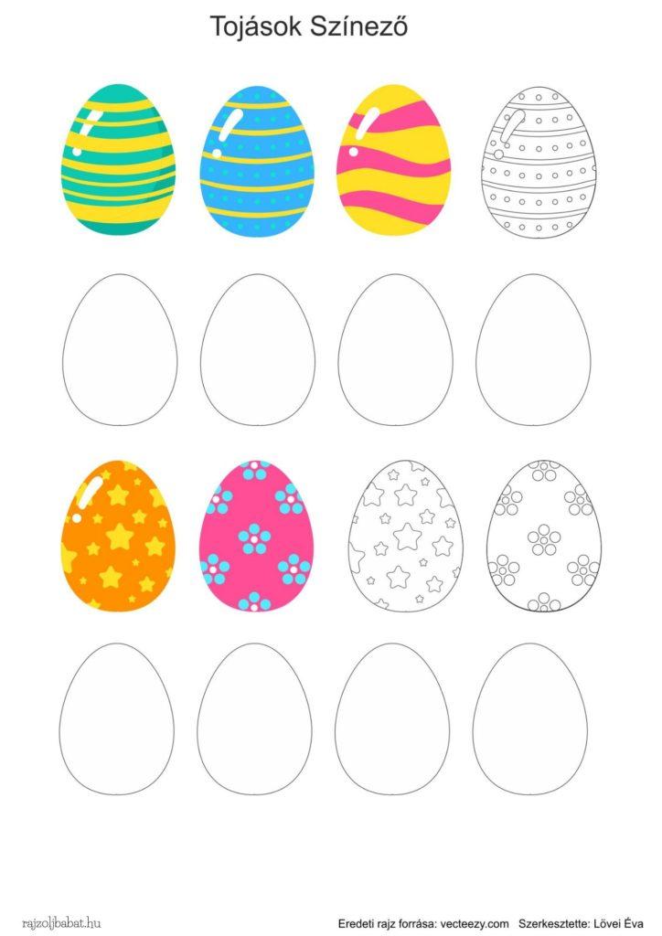 Egyszerű rajzminták tojás színező
